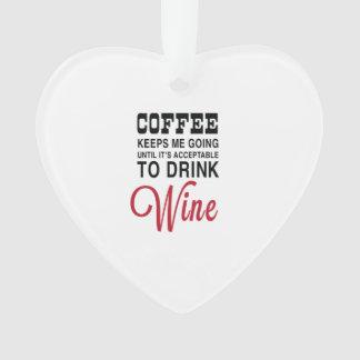 Coffee Until Wine Ornament