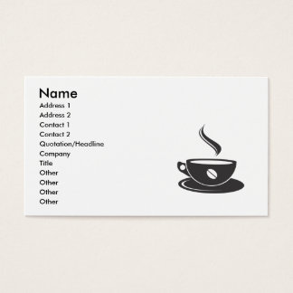 coffee-vector-image-1, Name, Address 1, Address... Business Card