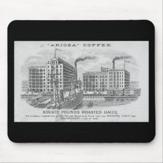 Coffee Vintage Trade Card Mouse Pad