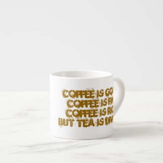 Coffee Vs Tea Espresso Cup
