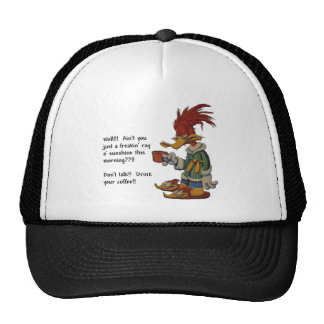 coffee-wake up-trucker hat