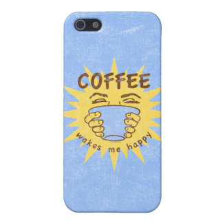 Coffee Wakes Me Happy iPhone SE/5/5s Case