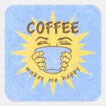 Coffee Wakes Me Happy Stickers