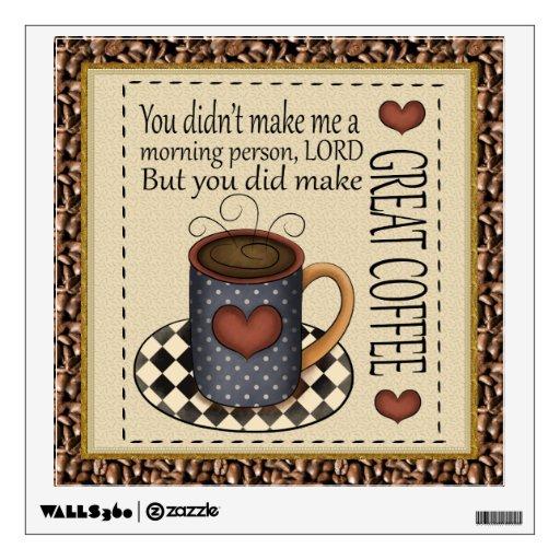 Coffee wall decal