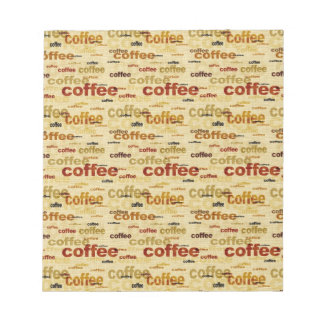 Coffee Wallpaper Note Pads