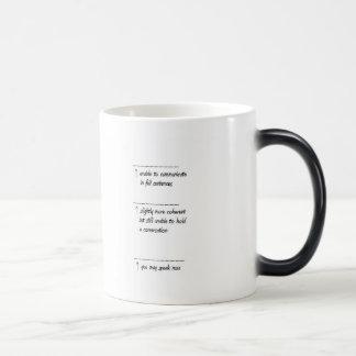 Coffee warning ~ 11 oz magic heat Color-Changing coffee mug