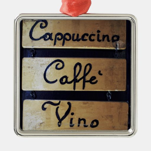 Coffee, Wine and Beer sign, Venice, Italy Metal Ornament
