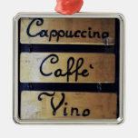 Coffee, Wine and Beer sign, Venice, Italy Ornaments