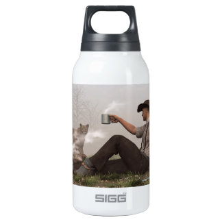 Coffee With a Cougar Insulated Water Bottle