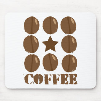 Coffee with beans mouse pad