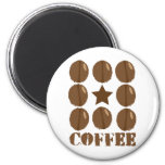 Coffee with beans refrigerator magnet