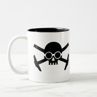 Coffee with Corbu's Skull Two-Tone Coffee Mug