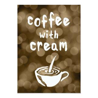 coffee with cream bokeh card