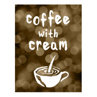 coffee with cream comment card