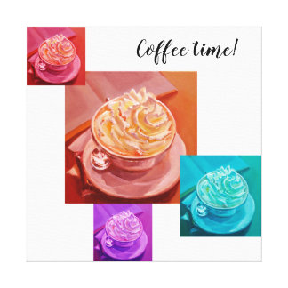 Coffee with cream painting canvas print