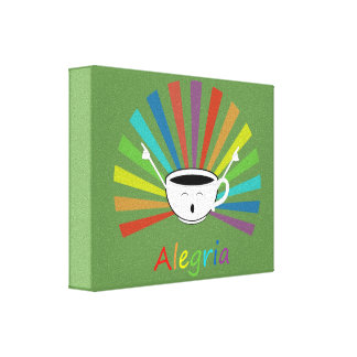 Coffee with feelings canvas print