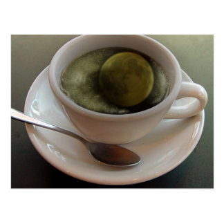 Coffee With Full Moon Postcard
