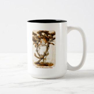 Coffee with Michaelmas Daisy Mug