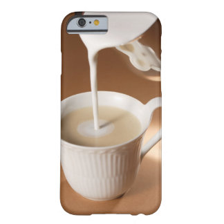 Coffee with milk being poured in iPhone 6 case