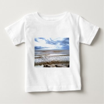 Beach Themed Coffee-with-milk colored sea. baby T-Shirt