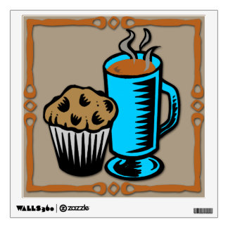 Coffee with Muffin Design Wall Decal