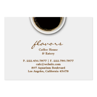 Coffee with Stain Chubby Business Card