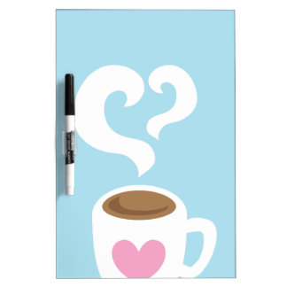 Coffee with steam dry erase board