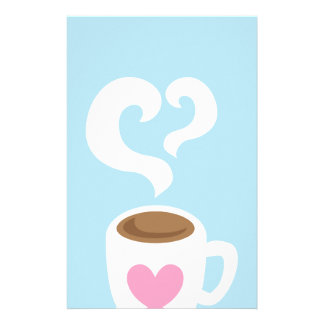 Coffee with steam stationery