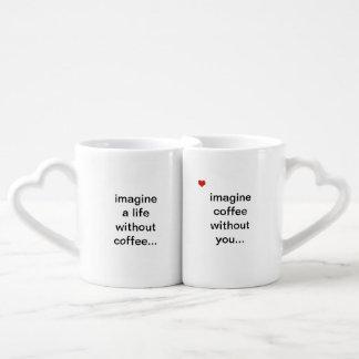 coffee without you couples' coffee mug set
