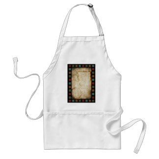 coffee word search adult apron