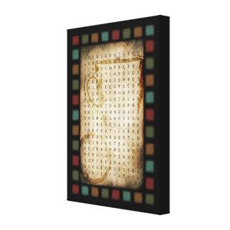 coffee word search canvas print