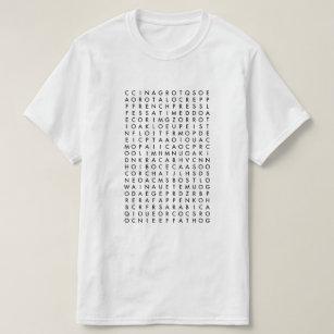 204061bc7 Word Search T-Shirts - T-Shirt Design & Printing   Zazzle