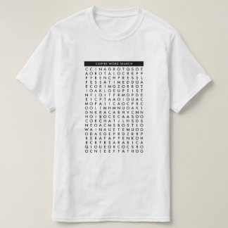 coffee word search puzzle T-Shirt
