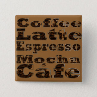 Coffee Words Button