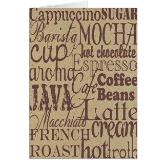 Coffee Words Card