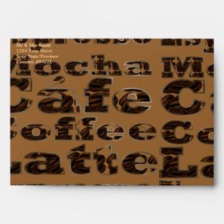 Coffee Words Envelopes