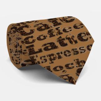 Coffee Words Neck Tie