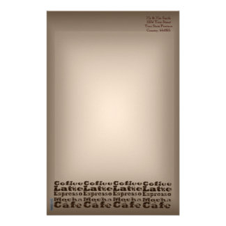 Coffee Words Stationery Paper