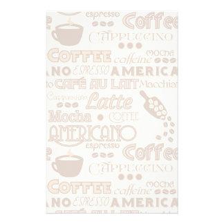 Coffee Words Stationery