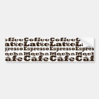 Coffee WordsBumper Sticker Bumper Sticker