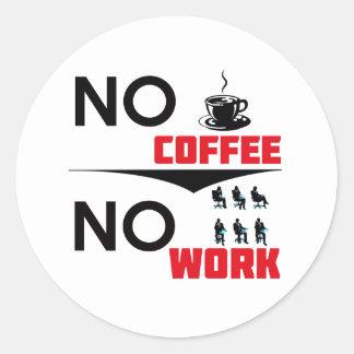 coffee work classic round sticker