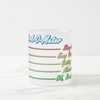 Coffee Work-O-Meter, Funny Coffee Humor Mug