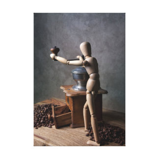 Coffee Worker Canvas Print