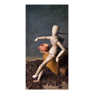 Coffee Worker Photo Greeting Card