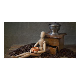 Coffee Worker Customized Photo Card