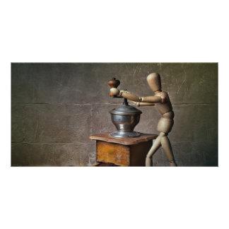 Coffee Worker Photo Greeting Card