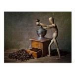 Coffee Worker Postcard
