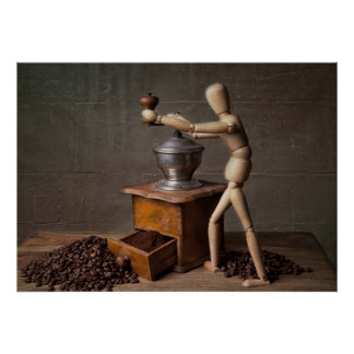 Coffee Worker Poster