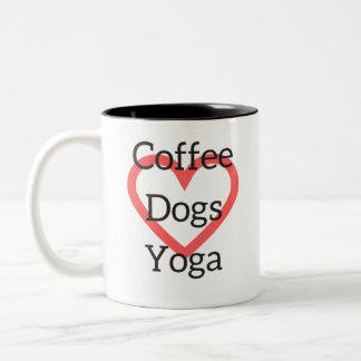 Coffee Yoga Dogs Mug