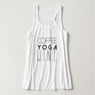 Coffee Yoga Wine | Chic Typography Tank Top